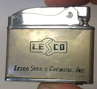 VTG FLAT ADVERTISING LIGHTER. LESCO, LESCO SEED & CHEMICAL, INC.
