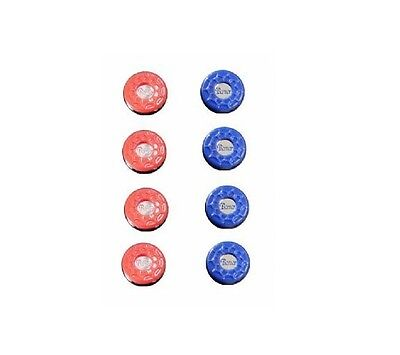 Full Set Of 8   Deluxe Shuffleboard Table Weights / Pucks By Berner Billiards