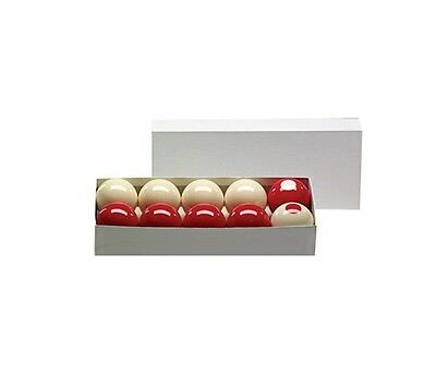 """BUMPER POOL BALL SET 2-1/8"""" REGULATION SIZE IN RED & WHITE ~"""