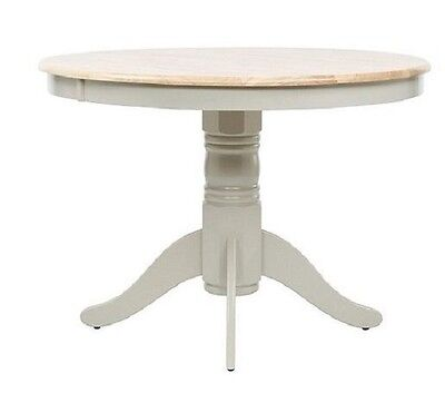 Wickham 4 Seat Round Dining Table, Oak & Grey