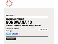 3 x Tickets to Gondwana 10 at the Roundhouse (Portico Quartet, Mammal Hands etc)