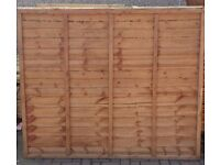 3 x Fence panels and 3 x Posts
