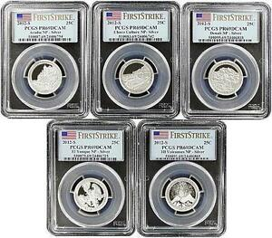2012 S National Park Silver Quarter Set PCGS PR69 DCAM First Strike