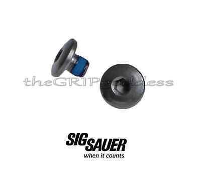 Sig Sauer P238 P938 Oe Factory Replacement Hex Grip Screw Set Of  2  Blue Locker
