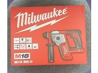 Milwaukee m18 bh-0 hammer drill (body only) brand new in box