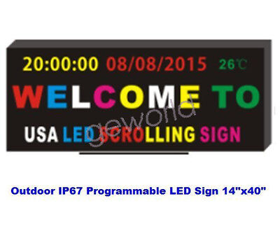 Programmable Scrollin Led Sign Moving Image Message Display Board Outdoor Ip67
