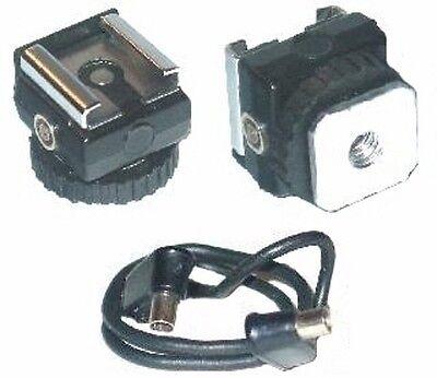 Synchro Sync Hot Shoe Flash Adapter w Tripod Socket NEW
