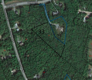 Beautifully treed building lot in Oakfield, NS.