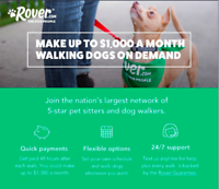 ►WALK DOGS ON YOUR SCHEDULE - MAKE UP TO $1000/month!◄