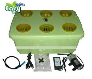 NEW 6 HOLE GARDEN PLANT SITE HYDROPONIC SYSTEM GROW KIT 6KIT AS LOW AS 34.95 EA