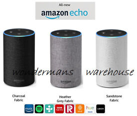 Amazon echo 2nd generation speakers - charcoal/heather/sandstone- brand new and boxed