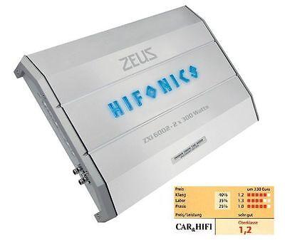 HIFONICS ZXi-6002 ZEUS Z3-SERIE AMP ZXi6002 2 x 150 / 300 Watt RMS 2 Kanal AMP