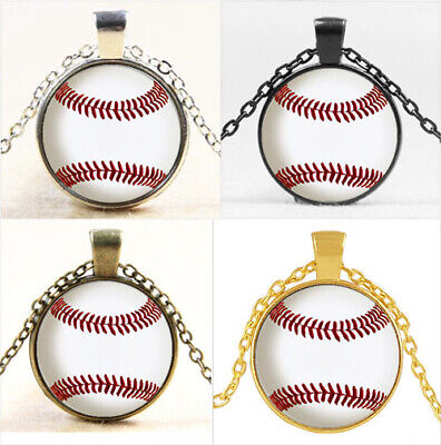 Vintage baseball photo Cabochon Glass Chain Pendant Necklace Jewelry Gift #7896](Vintage Baseball Gifts)