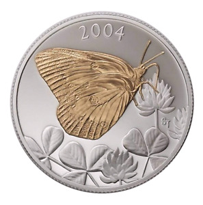 2004 50 CENT CLOUDED SULPHUR BUTTERFLY COIN