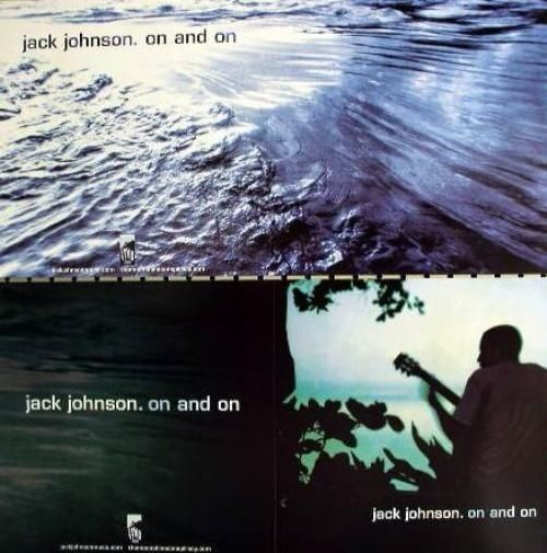 JACK JOHNSON 2003 2 sided on and on promotional poster Flawless New Old Stock