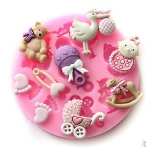 Newborn Baby On Side Silicone Mould X 10