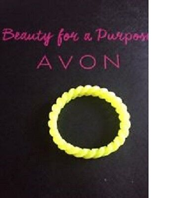 (Avon Bright Yellow Randi Wrist Bracelet Jelly Plastic Style Stocking Filler New)