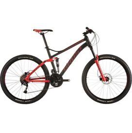 Ghost Kato FS 2 Mountain Bike Red/Black Full Suspension Good Condition