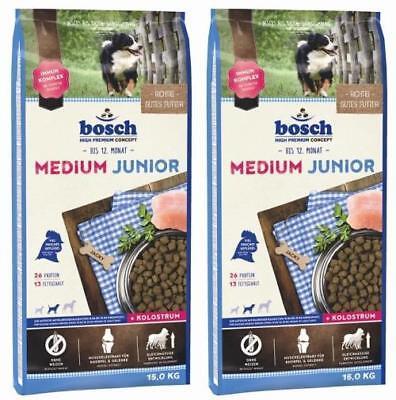 Bosch Junior Medium 2 x 15 kg für die Aufzucht mittelgroßer Hunde