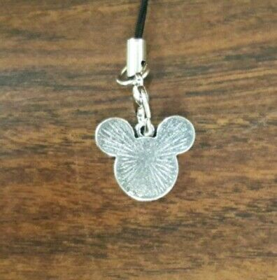 BN Disney Mickey Mouse Enamel Cell Phone Charm Strap Lariat - Silver-  - $4.99