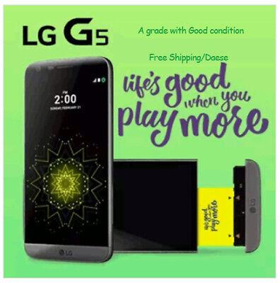 LG G5 Used A-GRADE Snapdragon 820 32GB 4G DDR4 RAM SMART PHONE UNLOCK Gold