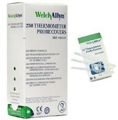 Welch Allyn Thermometer Probe Covers 05031 - 250 Covers - 10 Packs Of 25