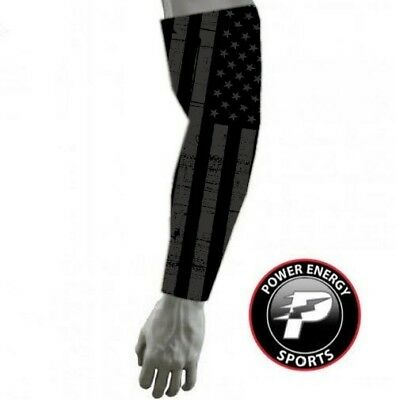 Black USA American Flag Baseball Football Biker Arm Compression Sleeve