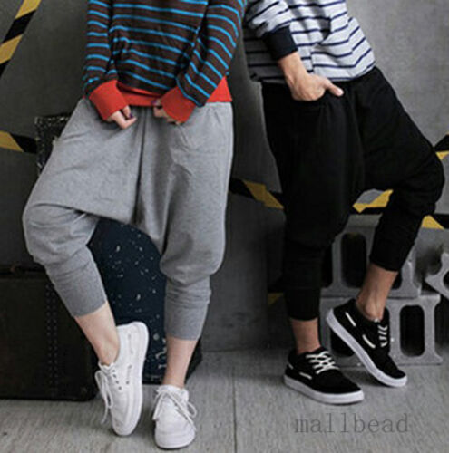 New-Men-Women-Casual-Hip-hop-Harem-Baggy-Trousers-Dance-Pants-Couple-Sweatpants