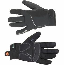 NEW CYCLING GLOVES (1767) ENDURA STRIKE WATERPROOF LINED WINTER UNISEX CYCLING GLOVES Size: XS