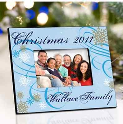 PERSONALIZED HOLIDAY CHRISTMAS PHOTO FRAMES 7 DESIGN CHOICES! CUSTOM 4x6 (Holiday Photo Frames)