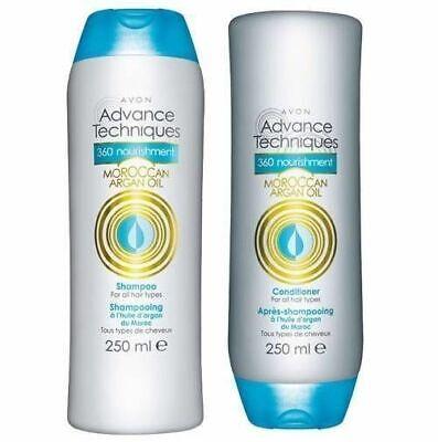 Avon Advance Technique 360 Nourish Moroccan Argan Oil Shampoo & Conditioner 2
