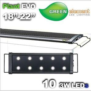 Beamswork EVO18 aquarium LED light 10x3W 6500K daylight planted aquarium 45-60cm