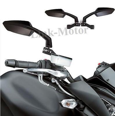 Universal 8m 10mm Motorcycle Motorbike Bike Scooter Rear View Mirrors Black Pair