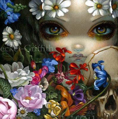Fairy Face 234 Jasmine Becket-Griffith Art zombie angel faery SIGNED 6x6 PRINT