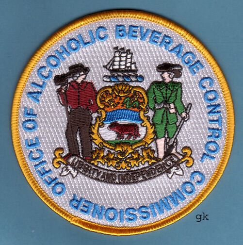 DELAWARE ABC ALCOHOLIC BEVERAGE CONTROL COMMISSIONER SHOULDER PATCH