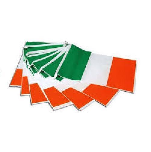 7m 25 flags Ireland plastic flag bunting Irish Rugby St Patricks