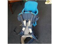 VAUDE SPORT BABY BACK CARRIER D-88069 TETTNANG BLUE USED TWICE