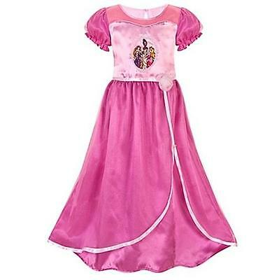 DISNEY STORE ROSE PRINCESS NIGHTGOWN RAPUNZEL TIANA AURORA XS 4  NEW