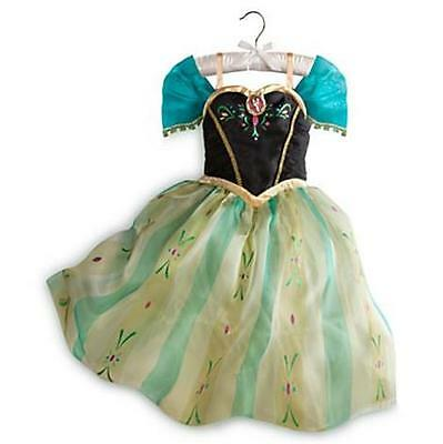 DISNEY STORE FROZEN PRINCESS ANNA DELUXE COSTUME SIZE 7/8 CORONATION DRESS 2015](Frozen Anna Deluxe Costume)