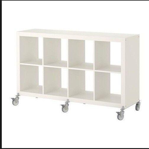 Ikea Kallax 8 Shelving Unit on Castors - White | in London | Gumtree