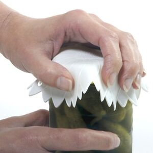 New-Non-Slip-Grip-Rubber-6-Jar-Opener-White-High-Quality