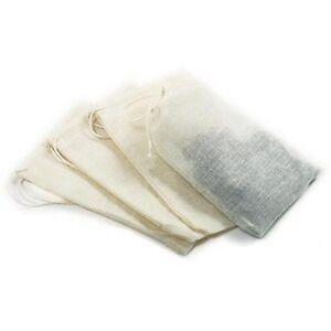 New-Set-Of-4-Reusable-5-Muslin-Tea-Brew-Bags-Steep-teas-herbs-soups-more