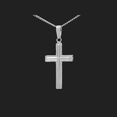 Kinder Erst Kommunion  Konfirmation Kreuz Anhänger Echt Silber 925 mit Kette Neu