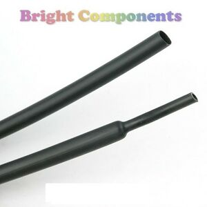 9-5mm-x-1m-Black-Heat-Shrink-Sleeving-Heatshrink-Tubing-1st-CLASS-POST