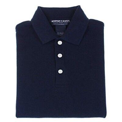 Navy Blue Short Sleeve Polo Shirt 16 Husky School Uniform Unisex French Toast