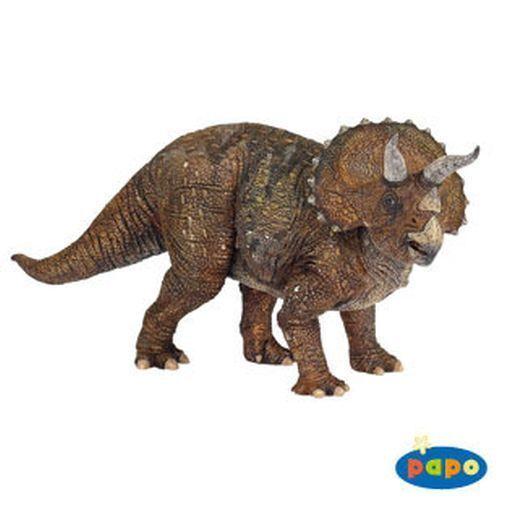 Papo Triceratops Dinosaur Animal Replica Figurine Toy