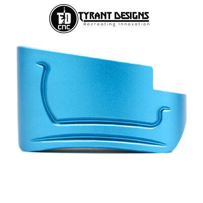 Tyrant Aluminum Magazine Plate Extension for M&P Shield 9mm/40 S&W Blue +1/2 (Aluminum Base Plate)