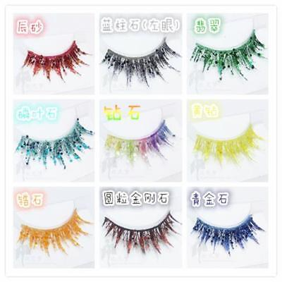Houseki no Kuni False Eyelashes Extensions Halloween Cosplay Props Multi-Colored