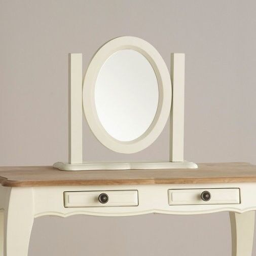 Solid Oak Dressing Table, Stool and Mirror