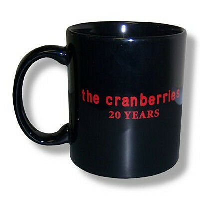 THE CRANBERRIES - 20 YEARS BLACK CERAMIC COLLECTIBLE COFFEE MUG - NEW